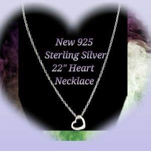 Jewelry - New 925 silver heart necklace